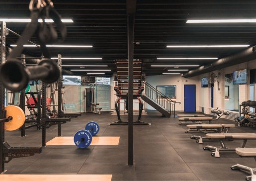 Free Weight Area train 24/7 Fitness Kew