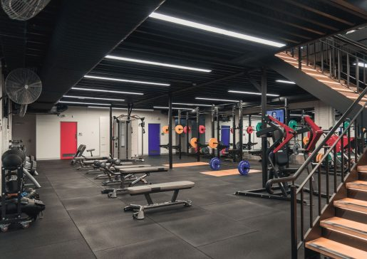 Total Free Weight Area train 24/7 fitness kew